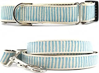 "product image for Diva-Dog 'Beach Dunes' 1"" Wide Chainless Martingale Dog Collar, Matching Leash Available"