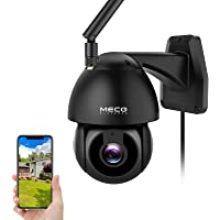 Security Camera Outdoor, MECO 1080P HD Pan/Tilt WiFi Home Surveillance Camera with Waterproof, Motion Detection, Auto…
