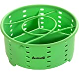 Avokado's Silicone Steamer Basket Compatible 6Qt Instant Pot with an Insert Divider for Instapot Pressure Cookers, Ninja Food