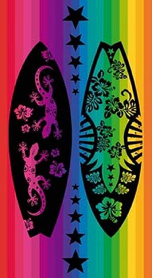 (419 HAWAI) TOALLA PLAYA GRANDE multicolor 100% ALGODÓN EJIPCIO 90 X 170 CM y PACK CALCETINES MARCA RegalitosTV tobilleros anti-presion: Amazon.es: Juguetes ...
