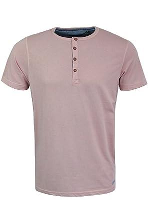 cae00fa9556 Brave Soul Mens Designer Henley Style T-Shirt by Quartz  Grandad Collar  Plain S-XL New  Amazon.co.uk  Clothing