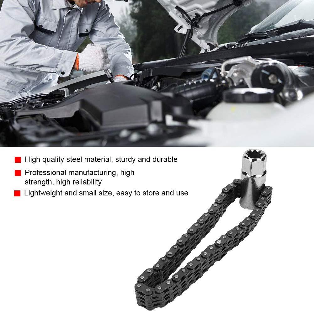 14 cm Tipo di catena pesante Rimozione della chiave del filtro dellolio Utensili per la riparazione di auto Universal Universal Suuonee Riparazione del filtro dellolio