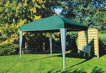 Pavillon tente barnum tonnelle de jardin pliable 3x3m vert foncé ...