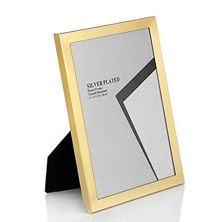 Metal Picture Frames 7x5 Gold Photo Frame A5 Landscape Horizontal