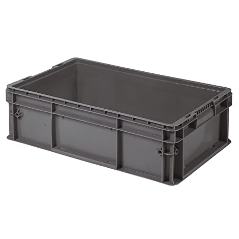 2241fe44d31f Buckhorn SW241508A206000 Plastic Straight Wall Storage Container Tote,  24-Inch by 15-Inch by 7.5-Inch, Dark Grey