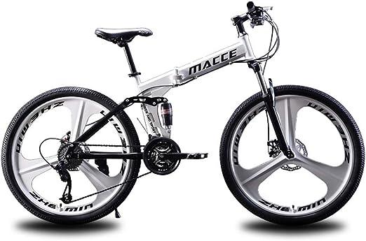 F-JWZS Bicicleta de Montaña para Hombre, 21/24/27 Velocidad ...