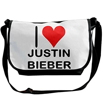 hotcy I Love Justin Bieber (1) Messenger Bag Schulter