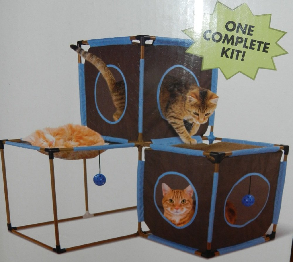 amazoncom complete jungle gym for cats from the makers of kitty city cat houses and condos pet supplies - Cat Jungle Gym