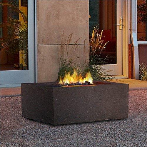 Real Flame T9620NG-KB Baltic Square Natural Gas Table, Kodiak Brown