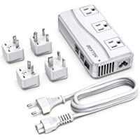 Bestek Universal Power Adapter with 6A 4-Port USB Charging 3 AC Sockets (White)