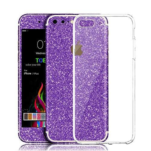 iPhone 7 Plus Sticker, Toeoe Bling Crystal Diamond Decal Skin with a Clear Case for iPhone 7 Plus (Skin Bling)