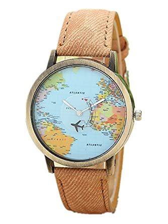 New arrival fashion world map watch vintage quartz analog watch new arrival fashion world map watch vintage quartz analog watch bracelet quartz wrist watch brown gumiabroncs Gallery