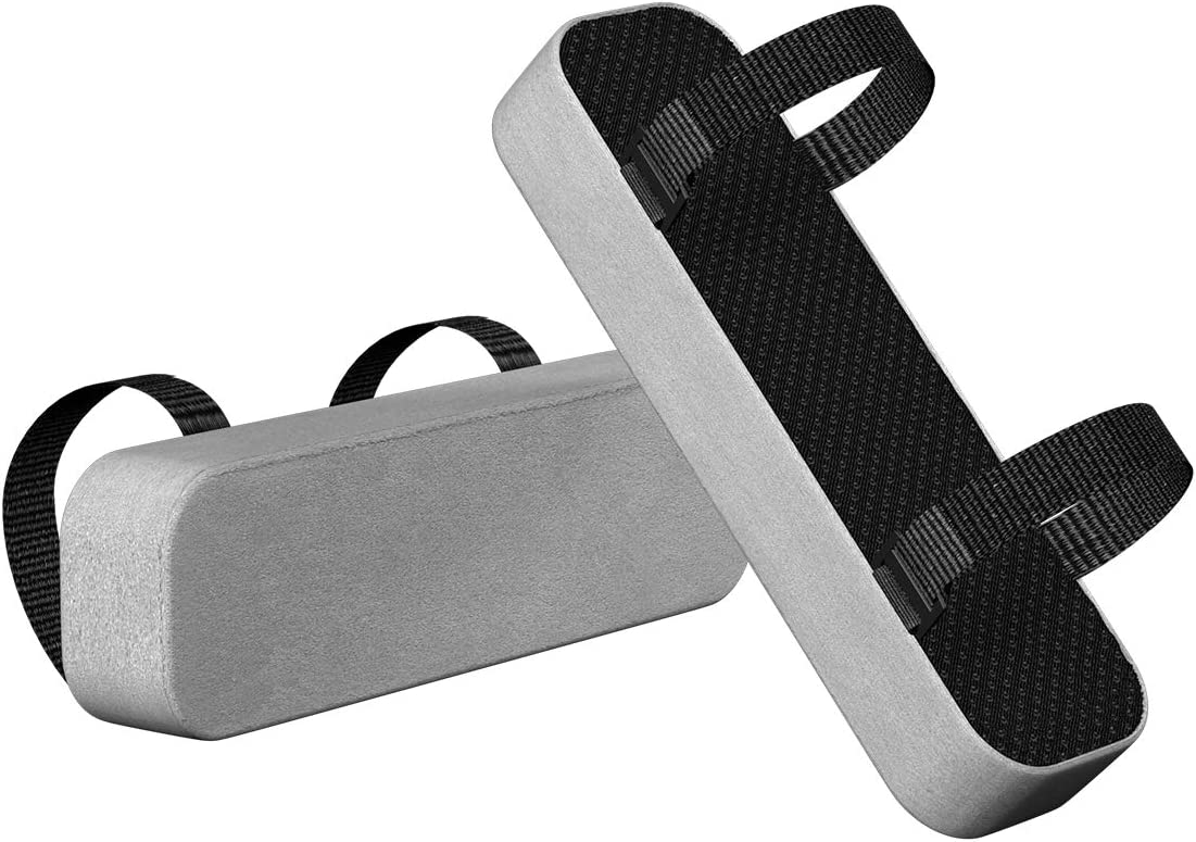 Yasolote Chair Armrest Pads,2 Pack Padded Armrest Cushion Pads with Memory Foam Elbow Pillow for Forearm Pressure Relief,Arm Chair Covers for Office Chairs,Wheelchair,Comfy Gaming Chair (Grey)