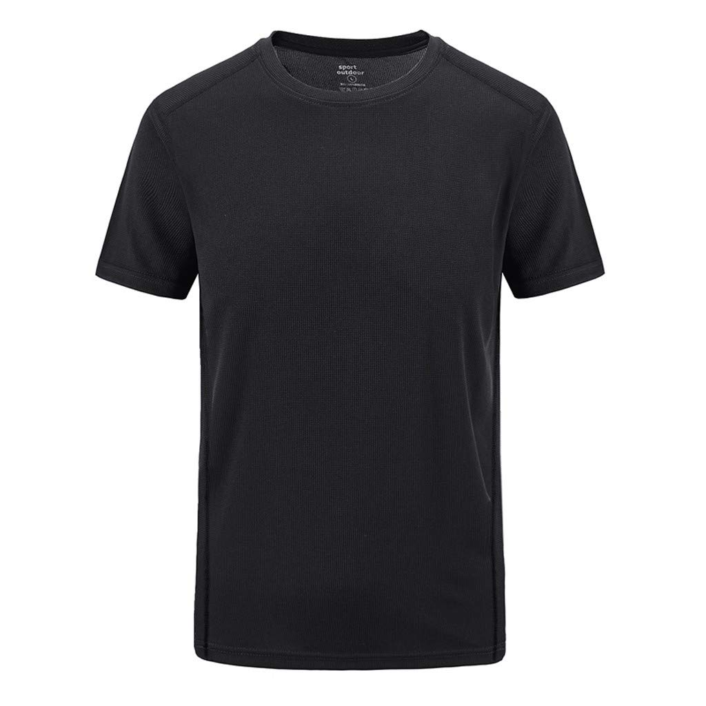 HimTak New Men's Summer T-shirt Casual Outdoor Sports Fitness Xl Short-Sleeved Quick-Drying Clothes Wild Tops