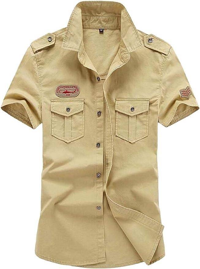 Camisa de Seguridad para Hombre, Estilo Militar, de Manga ...