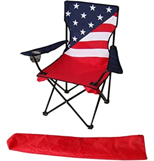 Uniware® American Flag Pattern Fold Able Beach Chair, With Extra Carrying  Bag,