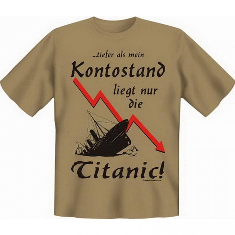 T-Shirt Pleite Bankrott - Tiefer als mein Kontostand liegt nur die Titanic  - Set inkl. Minishirt als Geschenk Idee: Amazon.de: Bekleidung