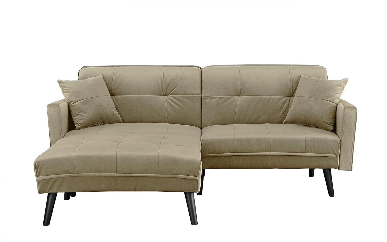 Amazon.com: Sofá cama futón de microfibra de Mid-Century con ...
