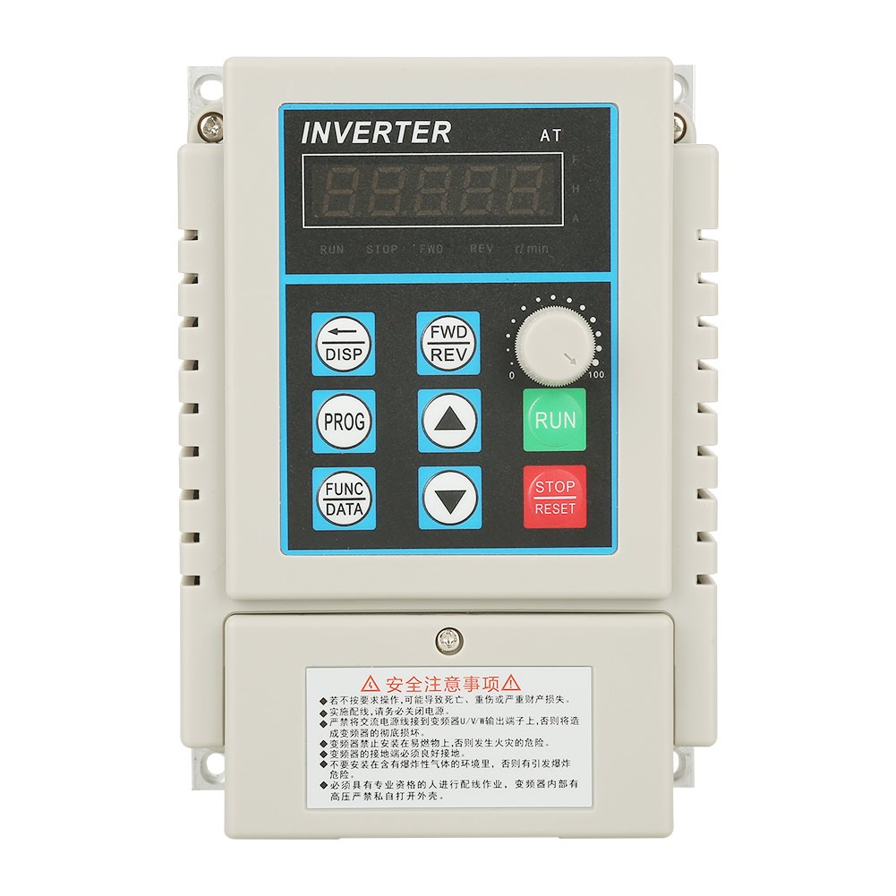 Walfront VFD Drive Inverter, 220V AC Variable Frequency Drive Inverter, VFD Speed Controller for Single-phase 0.75kW Motor by Walfront