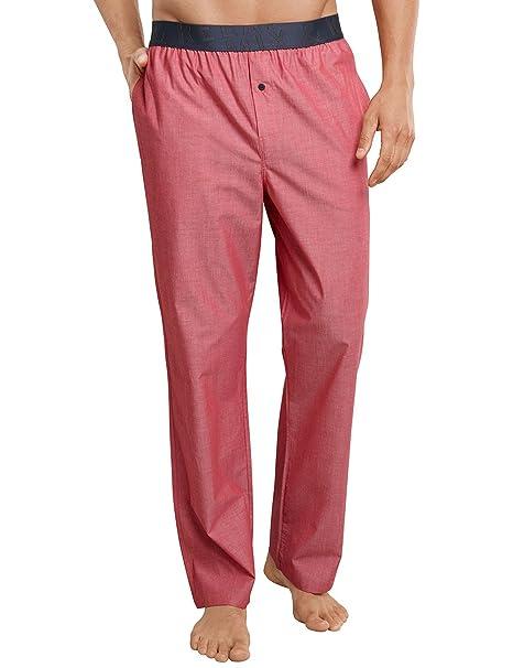 Schiesser Hose Lang, Pantalones de Pijama para Hombre, Rojo (Rot 500),