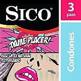 Sico Play Dame Placer - Condones Texturizados de Látex, Cartera de 3 Piezas
