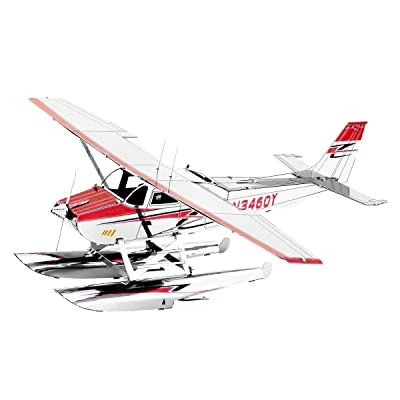 Fascinations Metal Earth Cessna 182 Floatplane 3D Metal Model Kit: Garden & Outdoor
