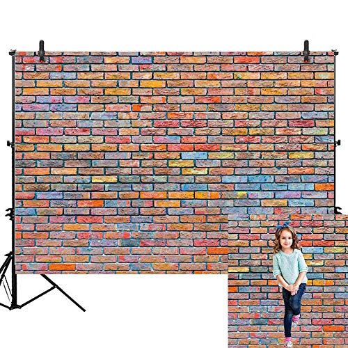 Allenjoy 7x5ft Graffiti Colorful Brick Wall Photography Backdrop Kids Birthday Party 80S 90S Hip Hop Banner Decoration Background Children Boys Girls Baby Portrait Photo Studio Props (Graffiti Brick Wall)