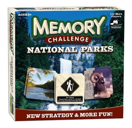 Memory Challenge: National Parks, Nature Themed Card, Dice And Camp Board Games, Camp Games Kids And Adults Love