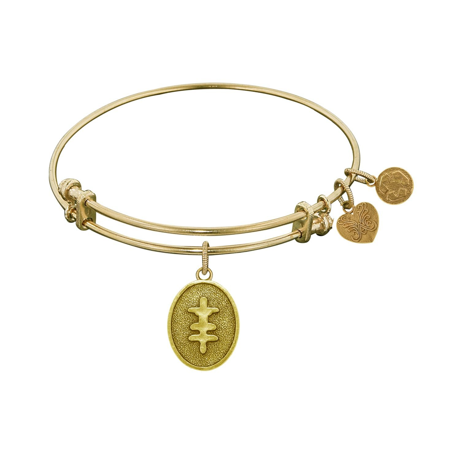 GEL1131 Adjustable Angelica Ladies Inspirational Collection Bangle Charm 7.25 Inches