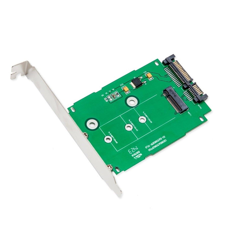 Syba Multimedia SI-ADA40083 M.2 NGFF TO 2.5 SATA III CARD WITH FULL & LOW PROFILE BRACKETS