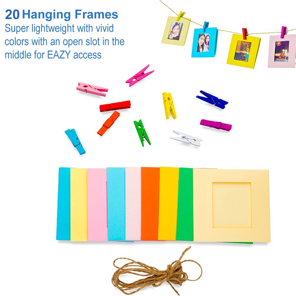 5 in 1 Giant Colorful Bundle Kit Accessories for Fujifilm Instax Mini 9/8 Camera - Assorted Accessory Pack of 120 Sticker Frames + 10 Plastic Desk Frames + 20 Hanging Frames + MORE by Deals Number One (Image #2)