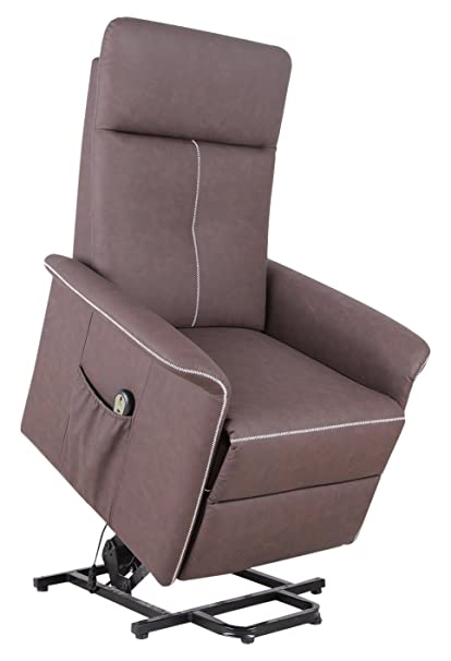 Merveilleux HomCom PU Leather 3 Position Electric Lift Chair And Recliner With Remote    Brown