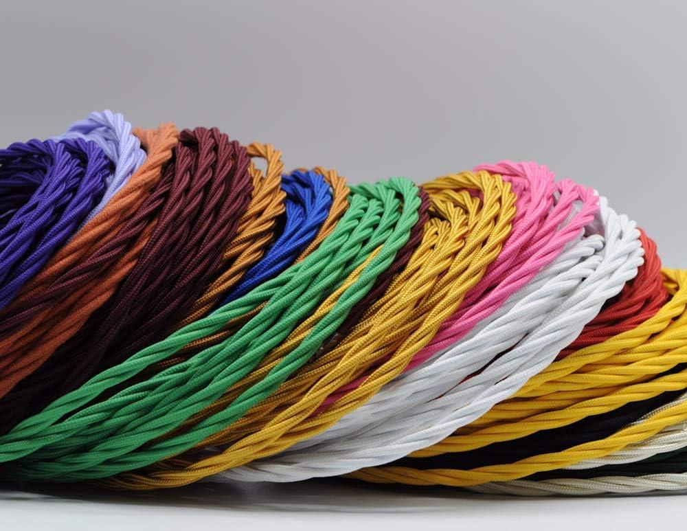 Klartext M/áxima seguridad a prueba de golpes. bronce Cable textil trenzado luminoso para iluminaci/ón 3 m Atenci/ón: cable tierra incluido 3 x 0,75 mm