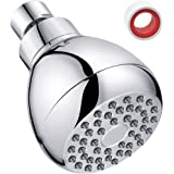 Shower Head High Pressure 3 Inch Showerhead 2.5 GPM Shower Heads, Adjustable Brass Ball Joint Shower Head, Powerful High Flow Shower Head for Bath Spa Shower, Air Bubble Pressure Shower Head (3)
