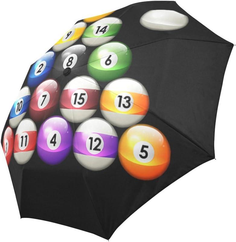 Funny billar bolas de billar compacto paraguas automático plegable ...