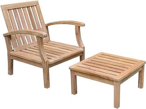 TITAN GREAT OUTDOORS Grade A Teak Sevilla Lounge Chair