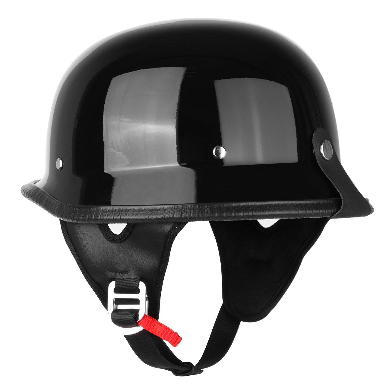 Amazon.com: Iglobalbuy DOT German Half Face Helmet Chopper Cruiser Biker Custom Airsoft Paitball Solid Glossy (M): Automotive
