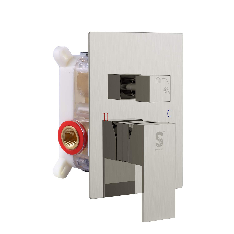 SR SUN RISE Brushed Nickel Shower Mixer Valve Control Shower Faucet by SR SUN RISE