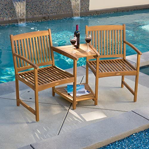 Outdoor Patio Furniture Adjoining Chairs Table Two-Seater Bench