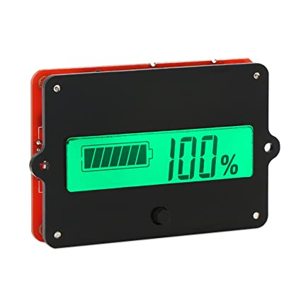 battery monitor meter drok dc 8 63v 12v 24v 36v 48v lcd lead acid rh amazon com