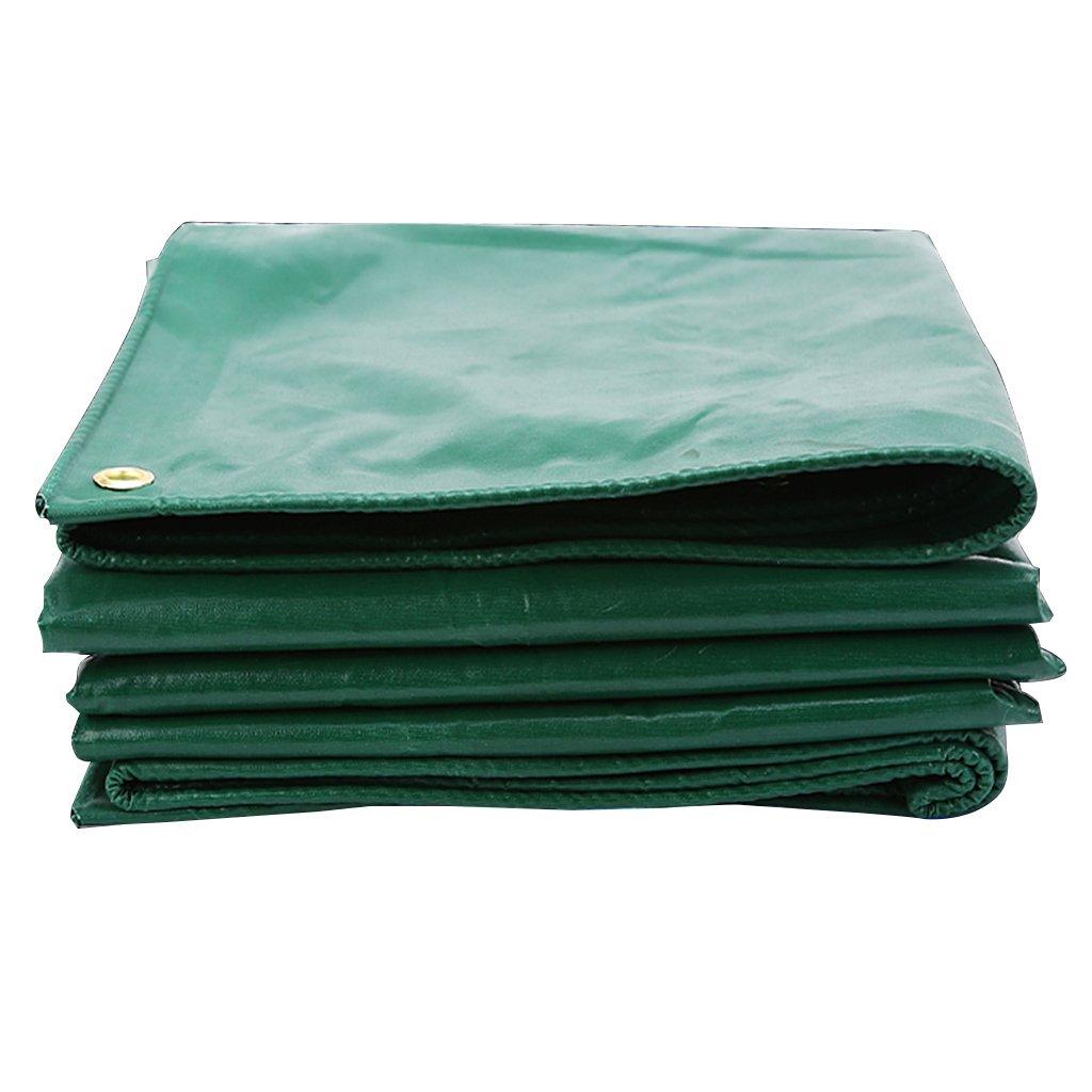 防水ターポリン、日焼け止めの耐摩耗性防水シート、キャンプテント、ターポリン、ピックアップトラック用 (色 : Green, サイズ さいず : 4m*6m) B07FS9JHQS 4m*6m|Green Green 4m*6m