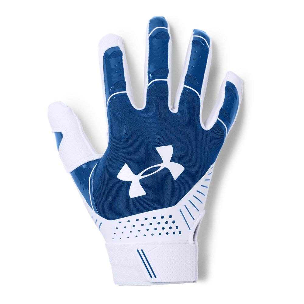Under Armour Women's Motive Softball Gloves, Royal (400)/White, Large