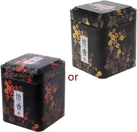 Museourstyty - Caja de metal para guardar monedas de té, dulces, aperitivos, recuerdos, regalos negro: Amazon.es: Hogar