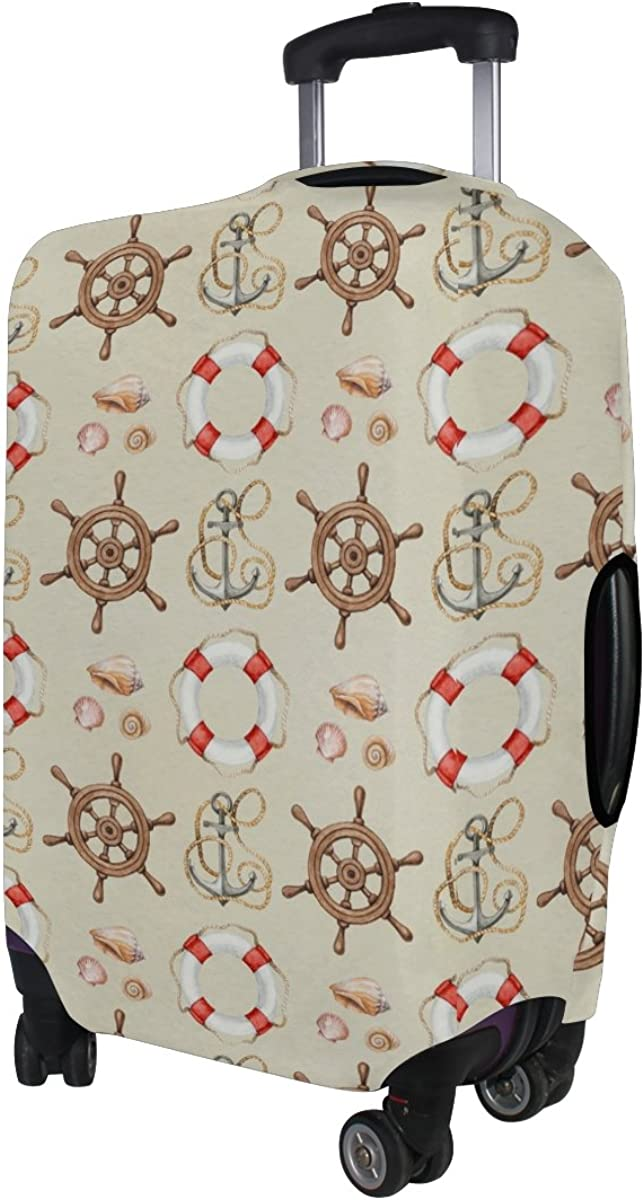 LAVOVO Nautical Anchor Luggage Cover Suitcase Protector Carry On Covers