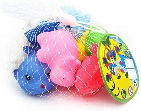 Pack De 10 Caucho Baño Squirt Juguetes Coloridos Clasificados De ...