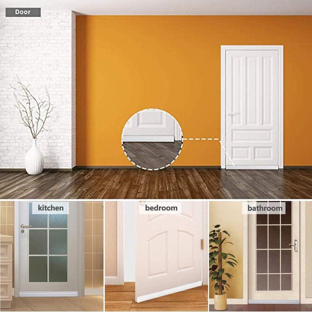 Under Door Draft Blocker Insulator Door Sweep Self-Adhesive Door Draft Stopper Weather Stripping Noise Stopper Suitable for Various Doors /& Windows 2 Width X 39 Length