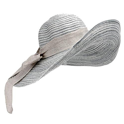 Sombrero del verano de la señora/Sombrero arco/sombrero de la playa/sombrero de paja plegable