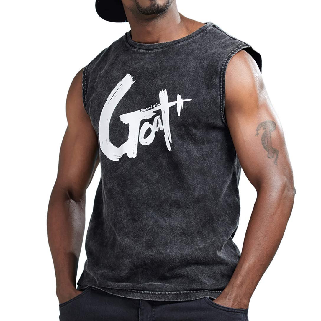 Amazon Aimpact Mens Cotton Sleeveless T Shirts Streetwear