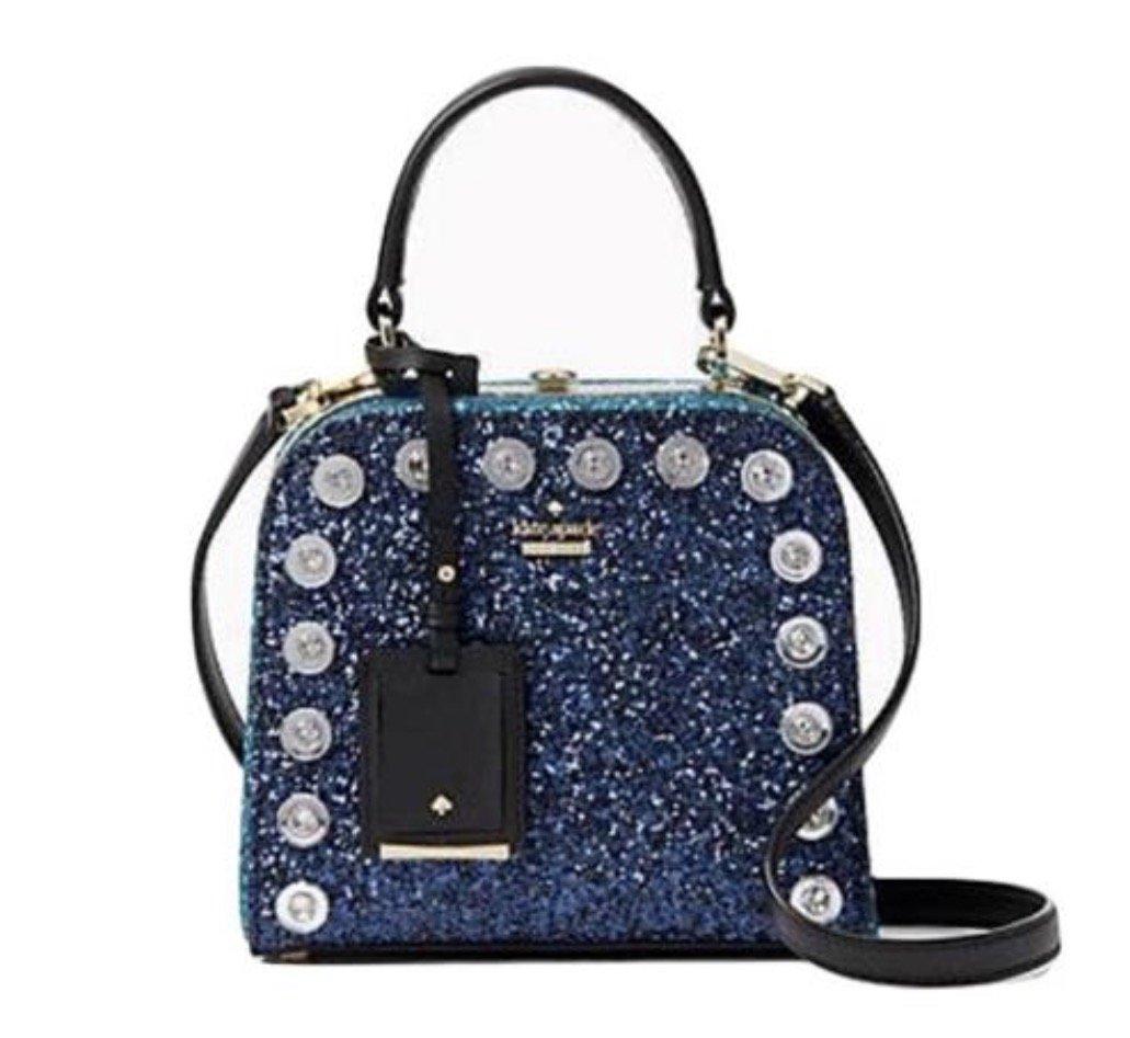Kate Spade Violina Skyline Way Crossbody Glitter Blue Handbag by Kate Spade New York