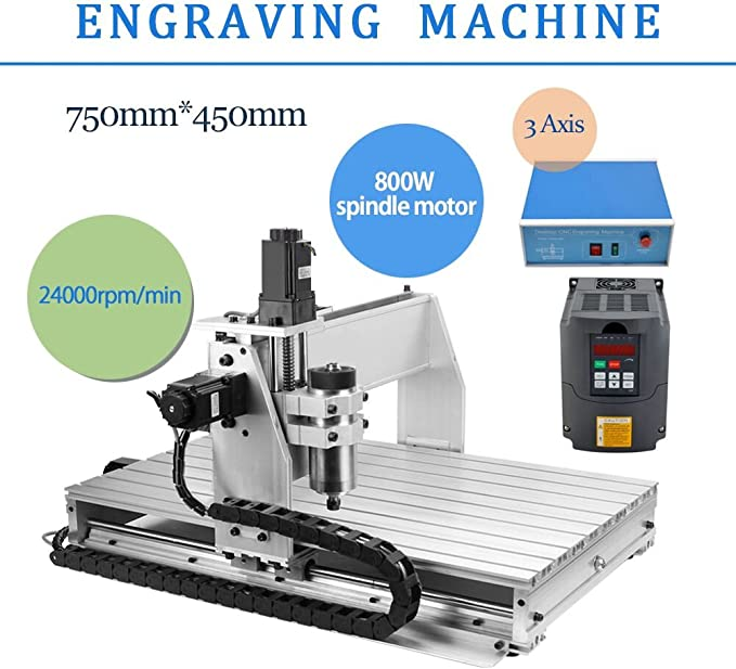 best CNC router: 3 AXIS 800W 6040 for commercial and research purposes